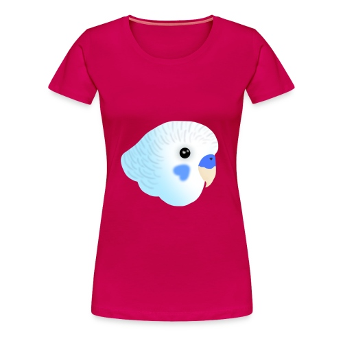 Blue Budgie Head Purple Jacket - Women's Premium T-Shirt
