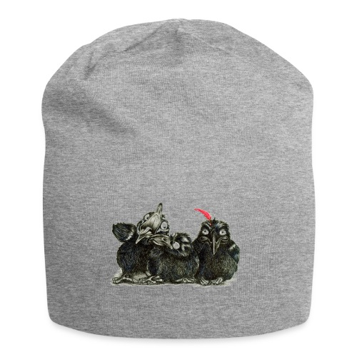 Three Crows With Red Feather - Jersey Beanie