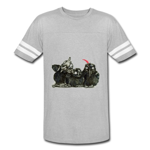 Three Crows With Red Feather - Vintage Sport T-Shirt