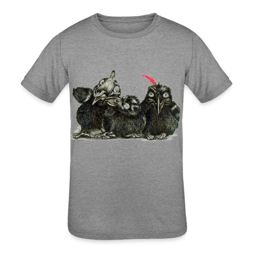 Three Crows With Red Feather - Kids' Tri-Blend T-Shirt