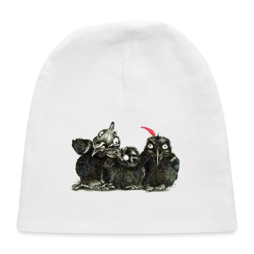 Three Crows With Red Feather - Baby Cap
