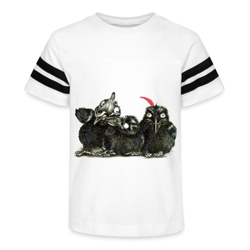 Three Crows With Red Feather - Kid's Vintage Sport T-Shirt