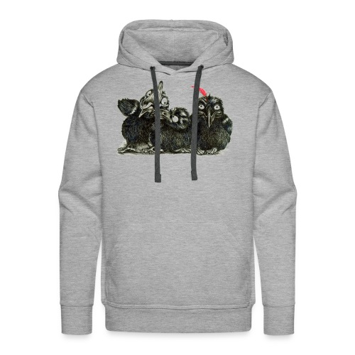 Three Crows With Red Feather - Men's Premium Hoodie