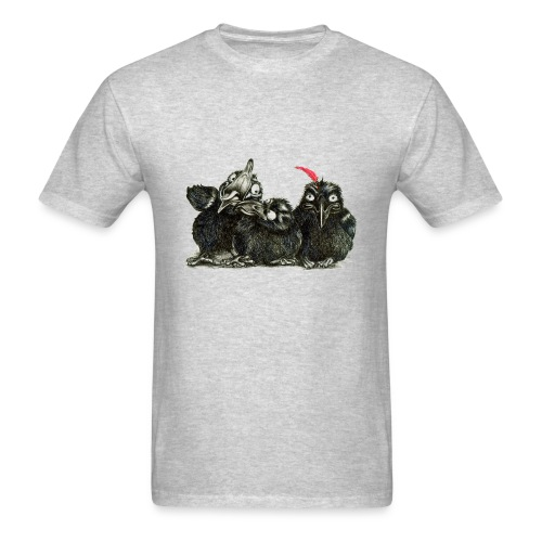 Three Crows With Red Feather - Men's T-Shirt