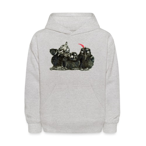 Three Crows With Red Feather - Kids' Hoodie