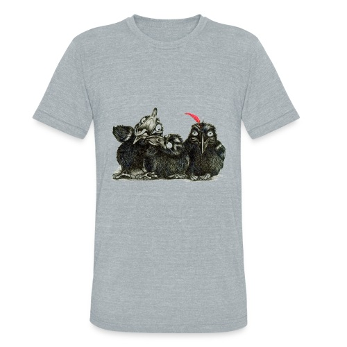 Three Crows With Red Feather - Unisex Tri-Blend T-Shirt