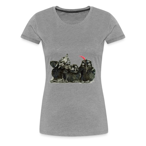 Three Crows With Red Feather - Women's Premium T-Shirt