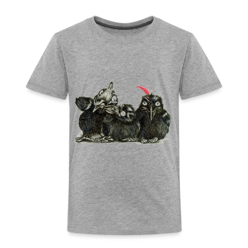 Three Crows With Red Feather - Toddler Premium T-Shirt
