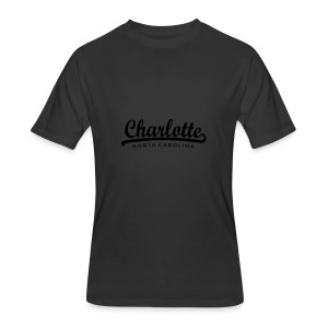 Charlotte, North Carolina Classic Gold Hoodie (Women) - Men's 50/50 T-Shirt