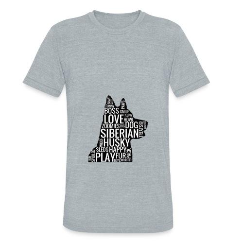 Siberian Husky Women's Hoodie - Unisex Tri-Blend T-Shirt