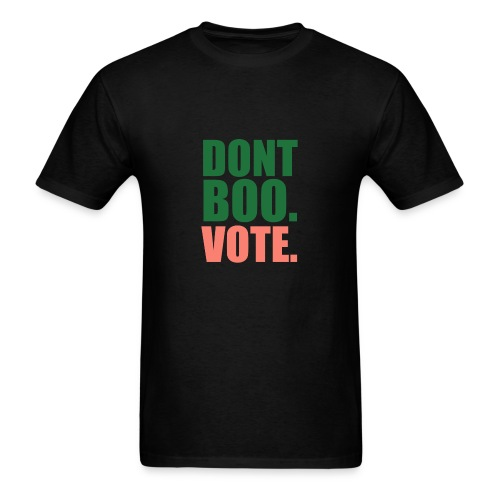 Obama Dont Boo Vote pink and green Hoodie W - Men's T-Shirt