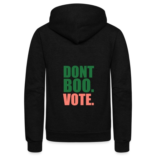 Obama Dont Boo Vote pink and green Hoodie W - Unisex Fleece Zip Hoodie
