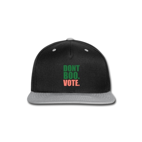 Obama Dont Boo Vote pink and green Hoodie W - Snap-back Baseball Cap