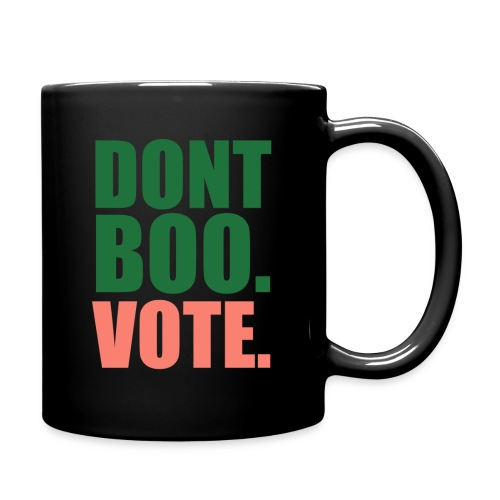 Obama Dont Boo Vote pink and green Hoodie W - Full Color Mug