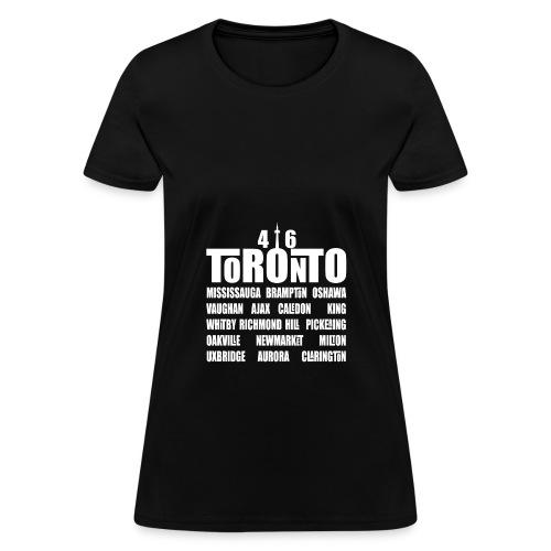 416 Toronto w/GTA Cities' Names Women's Premium Hoodie - Women's T-Shirt