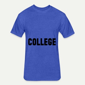 College - Fitted Cotton/Poly T-Shirt by Next Level