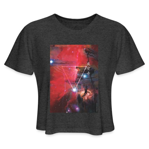 Night Sky Red-2 - Women's Cropped T-Shirt
