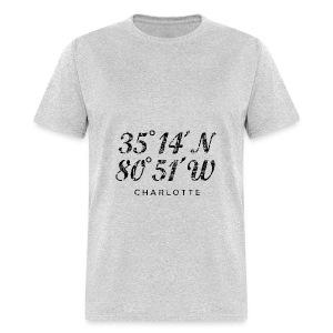 Charlotte, North Carolina Coordinates Hoodie (Men/Gray) - Men's T-Shirt