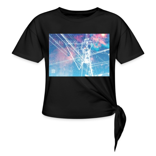Electrowav-1 - Women's Knotted T-Shirt