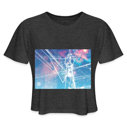 Electrowav-1 - Women's Cropped T-Shirt