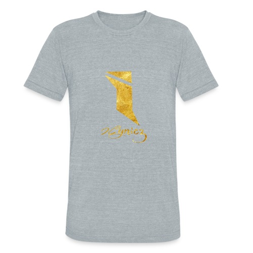 Limited Edition Gold Foil HOODIE [WHT/GRY] - Unisex Tri-Blend T-Shirt