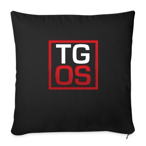 Men's Black TGOS Hoodie - Throw Pillow Cover