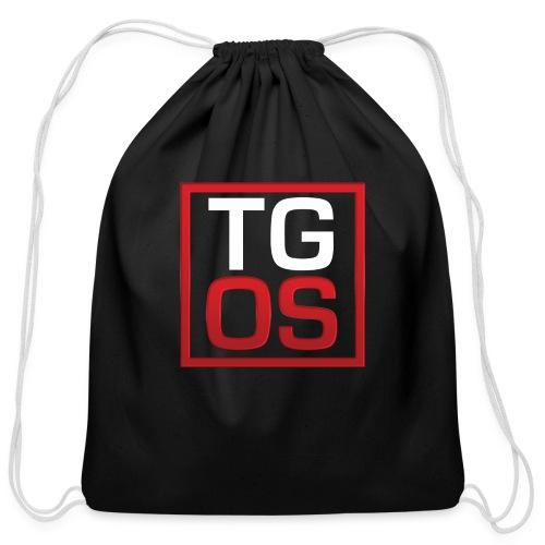 Men's Black TGOS Hoodie - Cotton Drawstring Bag