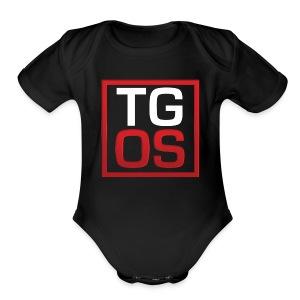 Men's Black TGOS Hoodie - Short Sleeve Baby Bodysuit