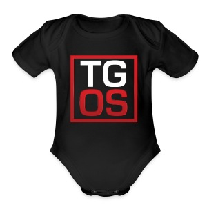 Men's Black TGOS Hoodie - Short Sleeve Baby Bodysuit