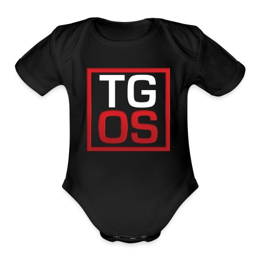 Men's Black TGOS Hoodie - Organic Short Sleeve Baby Bodysuit