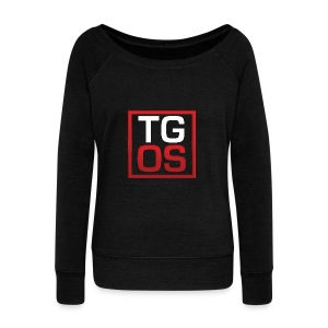 Men's Black TGOS Hoodie - Women's Wideneck Sweatshirt