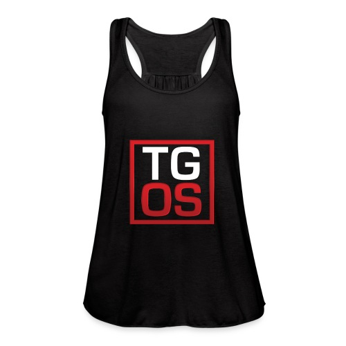 Men's Black TGOS Hoodie - Women's Flowy Tank Top by Bella