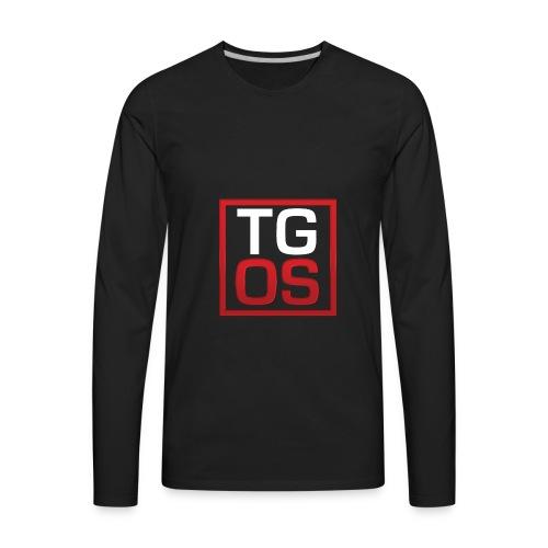 Men's Black TGOS Hoodie - Men's Premium Long Sleeve T-Shirt