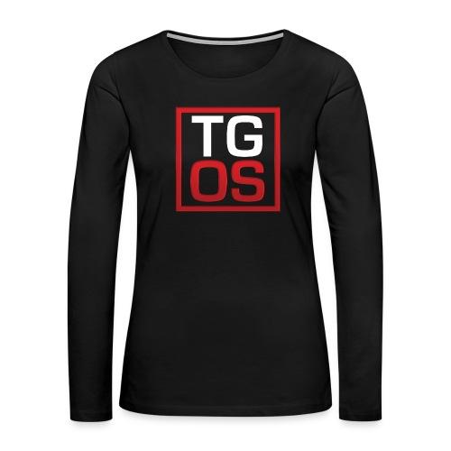 Men's Black TGOS Hoodie - Women's Premium Long Sleeve T-Shirt