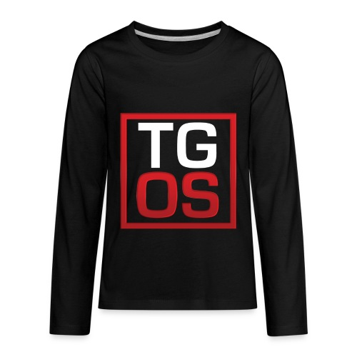 Men's Black TGOS Hoodie - Kids' Premium Long Sleeve T-Shirt