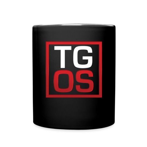 Men's Black TGOS Hoodie - Full Color Mug