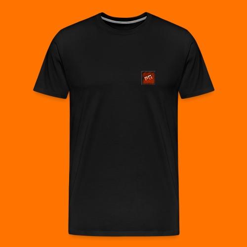 Pharmaceutical Gaming Logo Men's Black Hoodie - Men's Premium T-Shirt