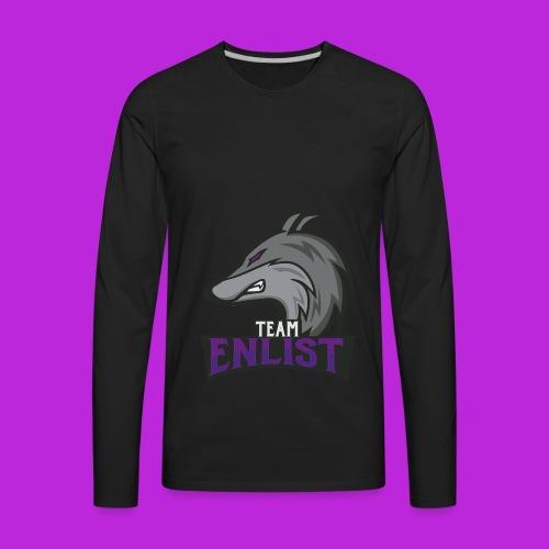 Enlist eSports Hoodie - Men's Premium Long Sleeve T-Shirt