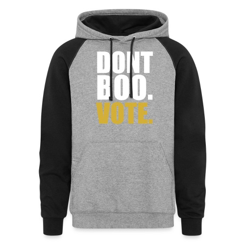 Obama Dont Boo Vote black and gold Hoodie M - Colorblock Hoodie