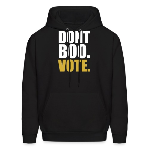 Obama Dont Boo Vote black and gold Hoodie M - Men's Hoodie