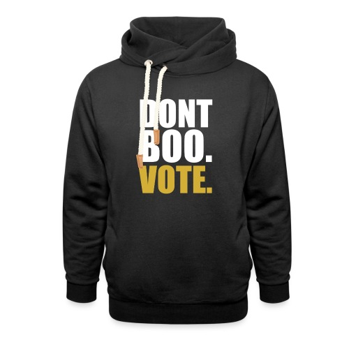 Obama Dont Boo Vote black and gold Hoodie M - Shawl Collar Hoodie