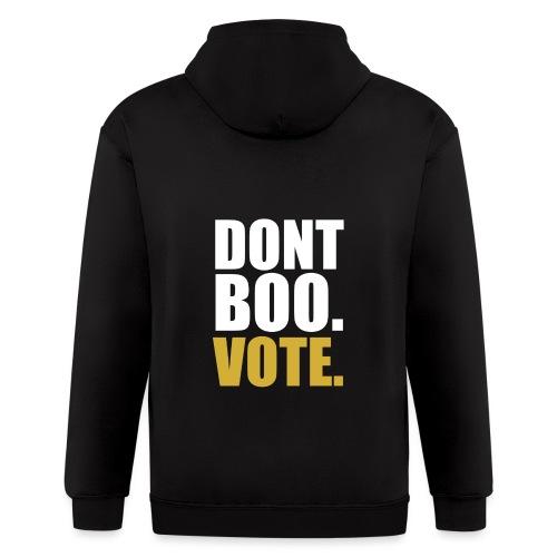 Obama Dont Boo Vote black and gold Hoodie M - Men's Zip Hoodie