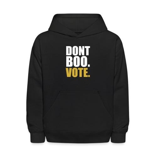 Obama Dont Boo Vote black and gold Hoodie M - Kids' Hoodie