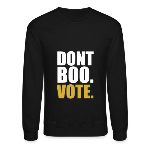 Obama Dont Boo Vote black and gold Hoodie M - Crewneck Sweatshirt