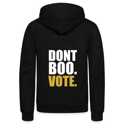 Obama Dont Boo Vote black and gold Hoodie M - Unisex Fleece Zip Hoodie