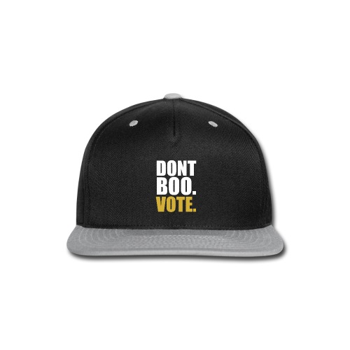 Obama Dont Boo Vote black and gold Hoodie M - Snap-back Baseball Cap