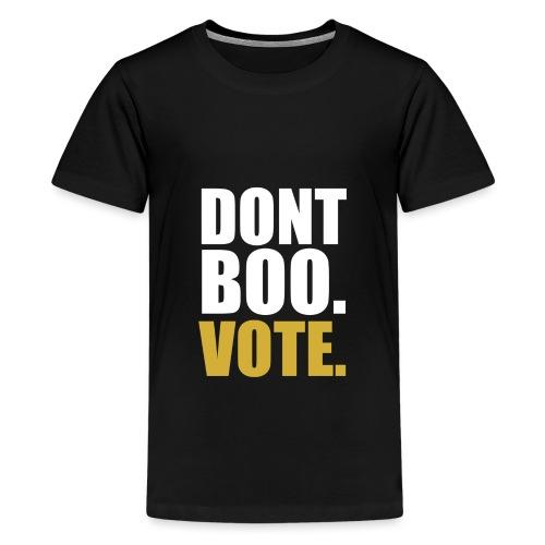 Obama Dont Boo Vote black and gold Hoodie M - Kids' Premium T-Shirt