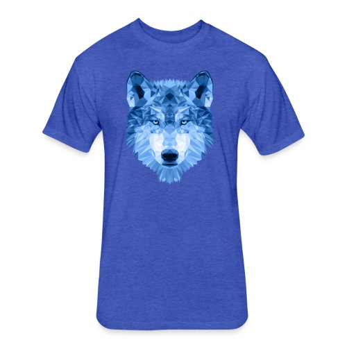 Winter Wolf - Fitted Cotton/Poly T-Shirt by Next Level