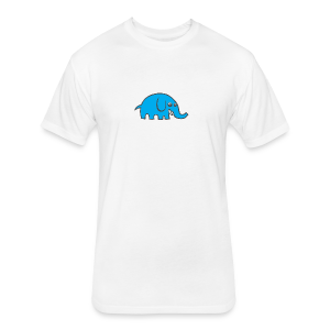 Cartoon elephant - Fitted Cotton/Poly T-Shirt by Next Level