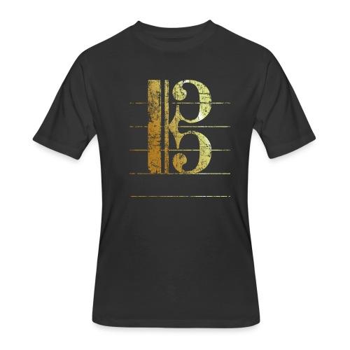 Tenor Clef T-Shirt (Ancient Gold) - Men's 50/50 T-Shirt